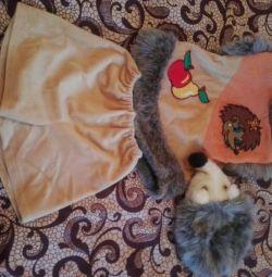 Новорічний костюм eжіка для дитини 3-5 років