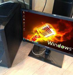 Comp (500 \ 8GB \ i5-4 πυρήνες \ GeForce 2Gb) και οθόνη 24