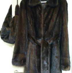 Mink coat + bag
