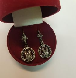 Earrings Silver 925 standard. Filigree