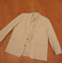 52-54р Новый хлопковый мужской пиджак