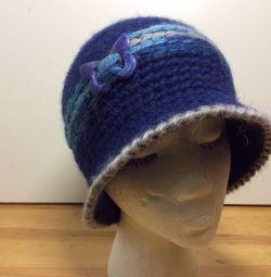 Детская шляпка небесно синего цвета, 53-56,арт184