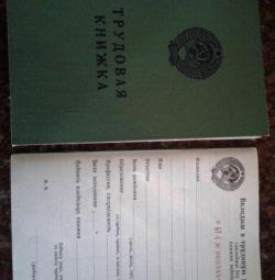 Cartea de lucru a URSS din 1974. Originală