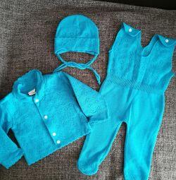 Νέο κοστούμι πλεκτό για νεογέννητα