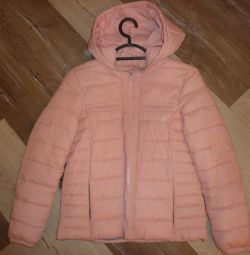 Pink jacket for a teenage girl