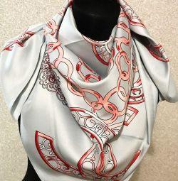 New silk scarf Chanel gray