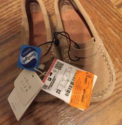 Bebek nova doğal süet loafer'lar satan