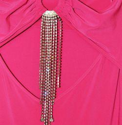 Rochie nouă de seară cu cristale XS-S