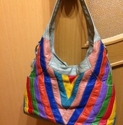 Soft leatherette bag