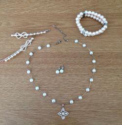 Cute set (necklace, earrings, hair clips, bracelet) ?