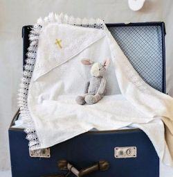 bebek vaftiz havlusu