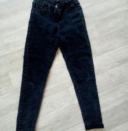 Jeans cu talie înaltă