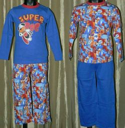 Set pijama (pantaloni + tricou cu brațele lungi