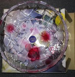 Πλάκα Soga Napoli Rose γυαλί 16 εκ