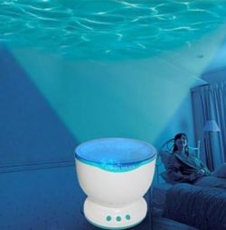 Nightlight projector column Ocean Waves Ocean