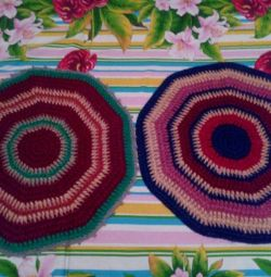 Warm floor mats, diameter 55 cm