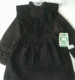 School apron black wool new 128-60