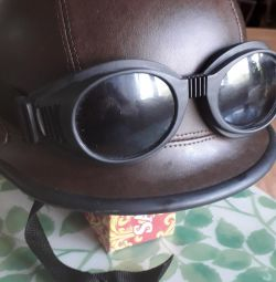 Шлем кожа натур.