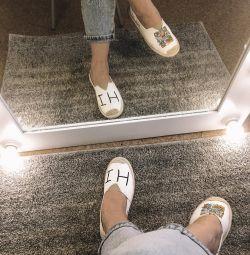 Moccasins παντόφλες πάνινα παπούτσια αθλητικά νέα