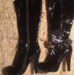New patent leather boots