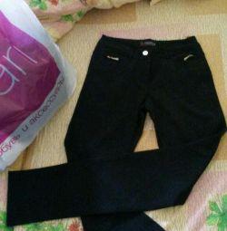 Trousers black straight 42-44 razm.