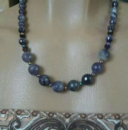 Necklace and earrings from natural Amethyst.
