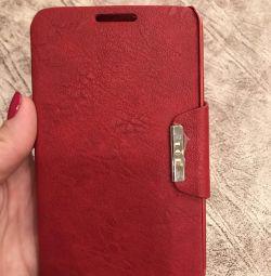 Cartelă din piele de caz pe Samsung