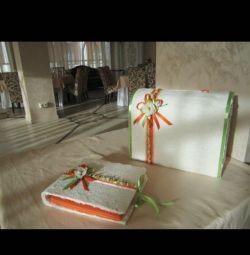 Коробка для денег и книга пожеланий