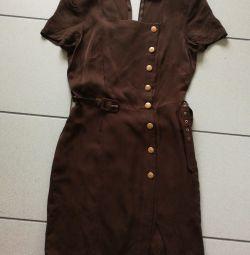 BernBerger φόρεμα καφέ με ίνες μπαμπού