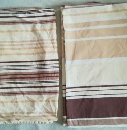 Duvet cover and 2 used pillowcases, satin