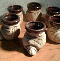 A set of ceramic cups