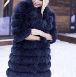 Μετασχηματιστής παλτό παλτό Αρκτική αλεπού στην σουέτ