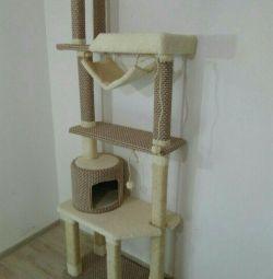 Когтеточка, комплекс для кішок з будиночком