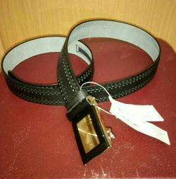 New men's leather belt