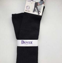 Γυναικείες κάλτσες νέο Dover μαύρο μαλλί μεγέθους 46 M