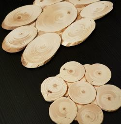 A set of coasters from the tree list
