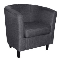 BREST ARMCHAIR WITH GRAY FABRIC