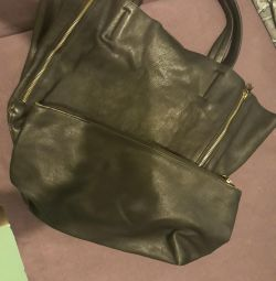 Celine Leather Shopper Bag