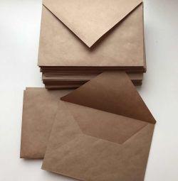 El yapımı zanaat zarflar