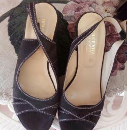 Sandals genuine suede, size 39