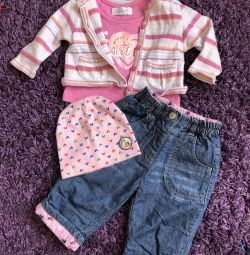 Children's clothing for girls under one year old