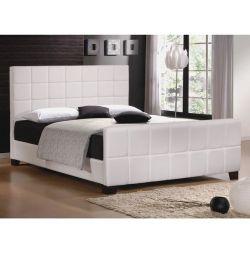 Κρεβάτι Jazz σε Ματ Λευκό PU 160x200
