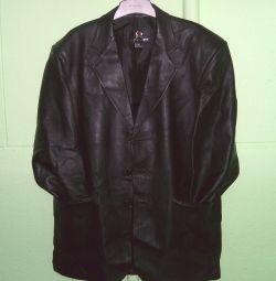 Кожаный пиджак SHUNPENGPIYE