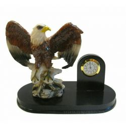 Stand Eagle for pen with a clock of 20 * 11 * 16 cm