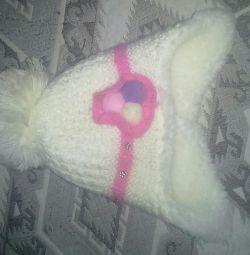 Pălărie încălzită de iarnă pentru fete