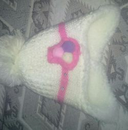 Winter warmed hat for girls