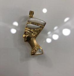 Κρεμαστό Nefertiti Χρυσό