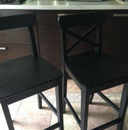 3 chairs of Ikea