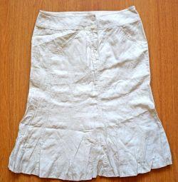 Λευκή φούστα γυναικών, μέγεθος 44-46
