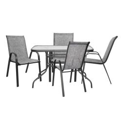 5MM DIN SET WITH 4 CHAIRS & TABLES HM519